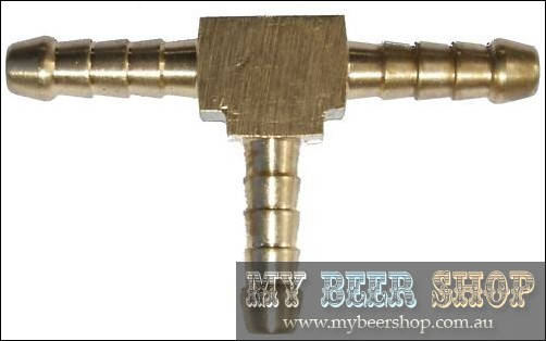6mm THREE WAY CO2 GAS OR BEER LINE SPLITTER HOME BREW T