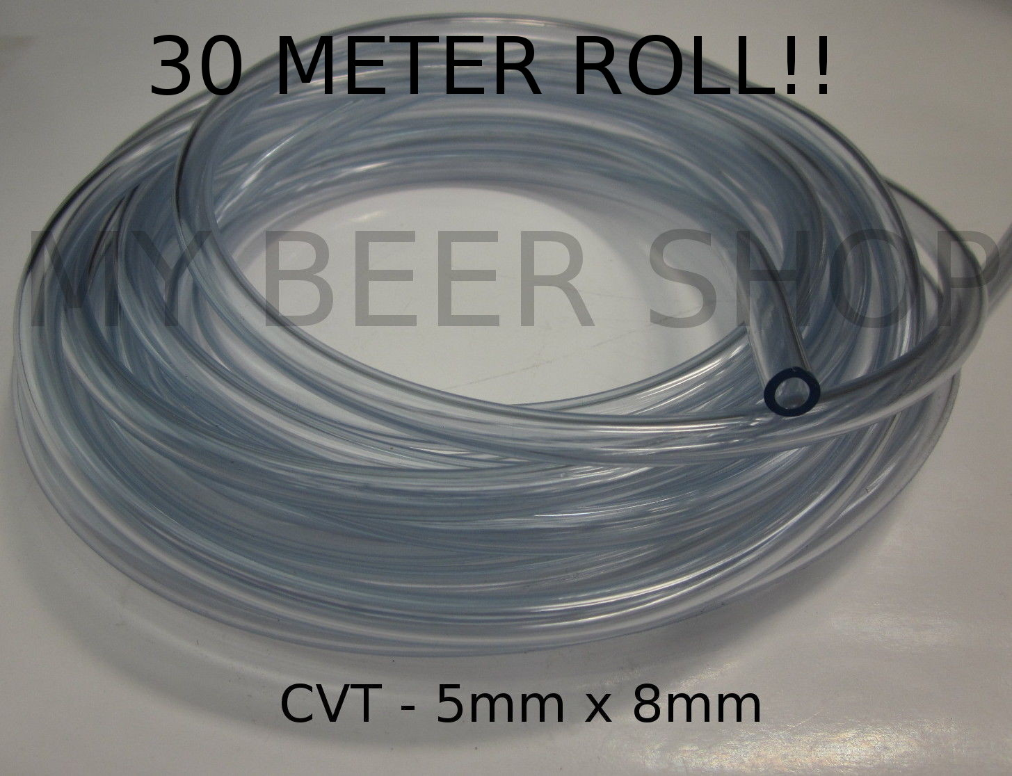 30M!! 5mm ID 8mm OD FOOD GRADE CLEAR FLEX VINYL TUBE HOSE HOSING