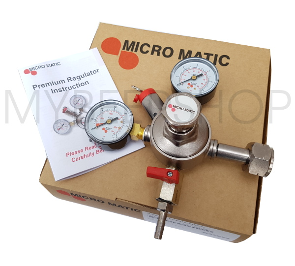 CO2 MICROMATIC PREMIUM CARBON DIOXIDE GAS REGULATOR HOME BREW