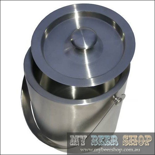 INSULATED STAINLESS STEEL ICE BUCKET WITH LID BAR